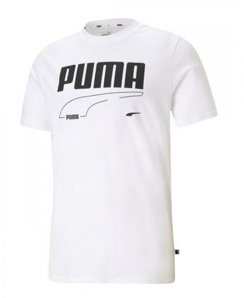 Puma Rebel Tee Herren T-Shirt 585738 (Weiß 02)