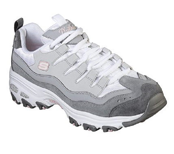 Skechers D Lites Damen Low Sneaker Grau | O46