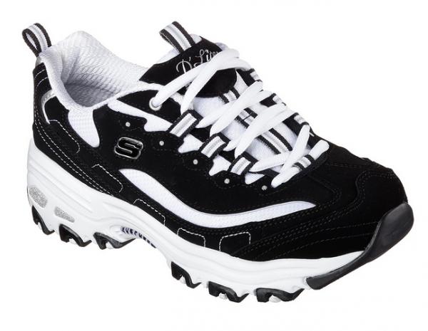 Skechers D'Lites - Biggest Fan Damen Sneaker 11930 (Schwarz-BKW)