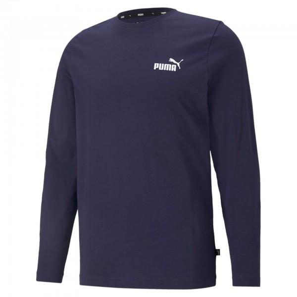 Puma ESS Small Logo Longsleeve Tee Herren Sweatshirt 586672 (Blau 06)