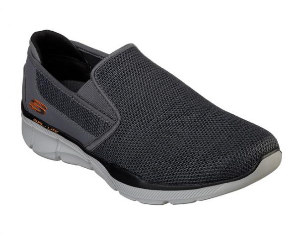 Skechers Relaxed Fit: Equalizer 3.0 Sumnin Herren Sneaker (Grau-CCOR)