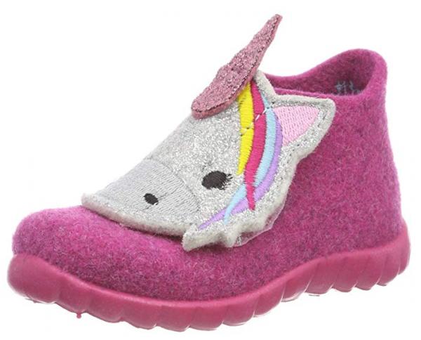 Top-Mode niedriger Preis Laufschuhe Superfit Happy Kinder Hausschuhe (Pink)