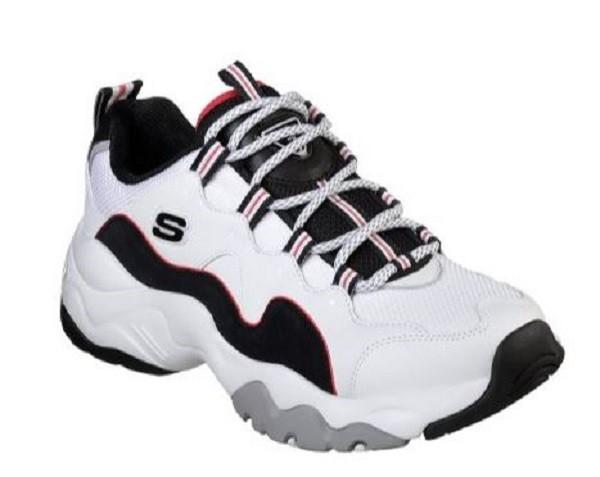 Skechers D´Lites 3.0 Herren Sneaker (Weiß-WBRD)