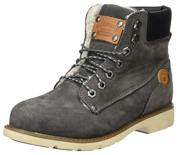 Dockers Damen Stiefel 39SI302-302 (Grau 200)