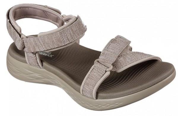 Skechers On the GO 600-Radiant Damen Sandale 15315 (Braun-TPE)