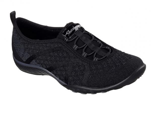 Skechers Relaxed Fit: Breathe Easy - Fortune-Knit Damen Sneaker 23028 (Schwarz-BLK)