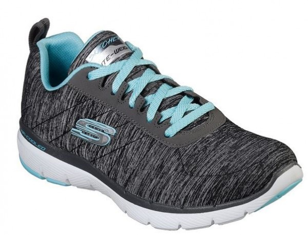 Skechers Flex Appeal 3.0 – Insiders Damen Sneaker 13067 (Schwarz BKLB)