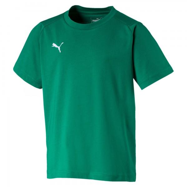 Puma LIGA Casuals Tee Jr Kinder T-Shirt 655634 (Grün 05)