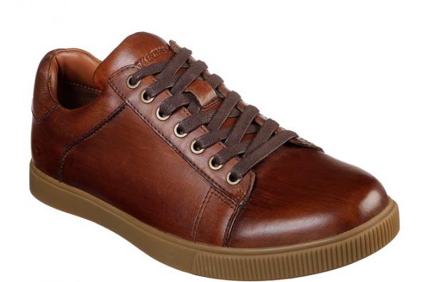 online store a080c cab09 Skechers Volden - Fandom Herren Sneaker (Braun-TAN)