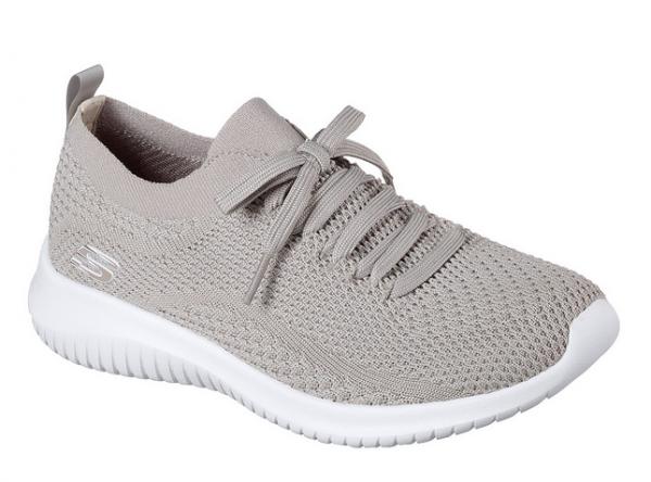 Skechers Ultra Flex - Statements Damen Sneaker 12841 (Beige-TPE)