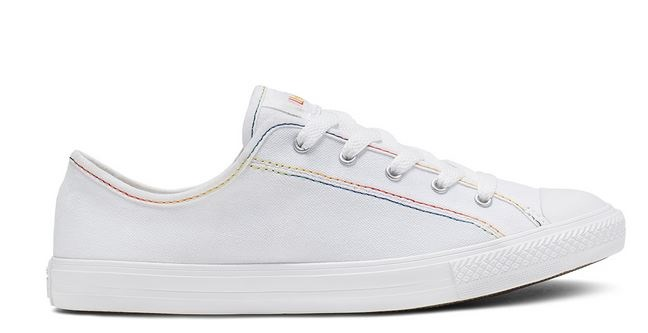 Converse Chucks Taylor All Star Dainty Ox Rainbow Damen Sneaker 564979C (Weiß)