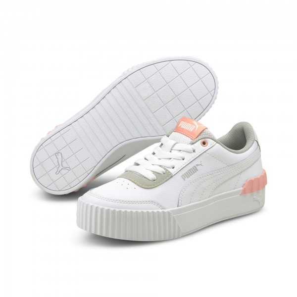 Puma Carina Lift Jr Kinder Sneaker 374225 (Weiß 01)
