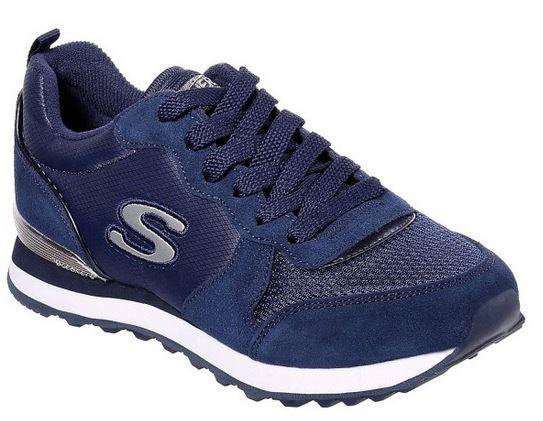 Skechers OG 85 Goldn Gurl Damen Sneaker (Blau-NVY)
