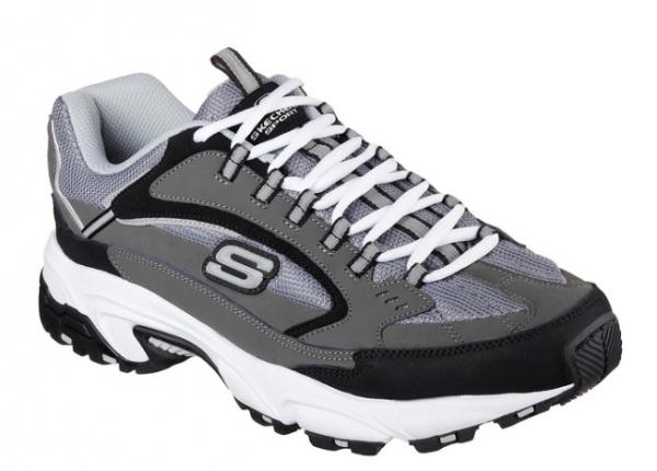 Skechers Stamina - Cutback Herren Sneaker 51286 (Grau-CCBK)