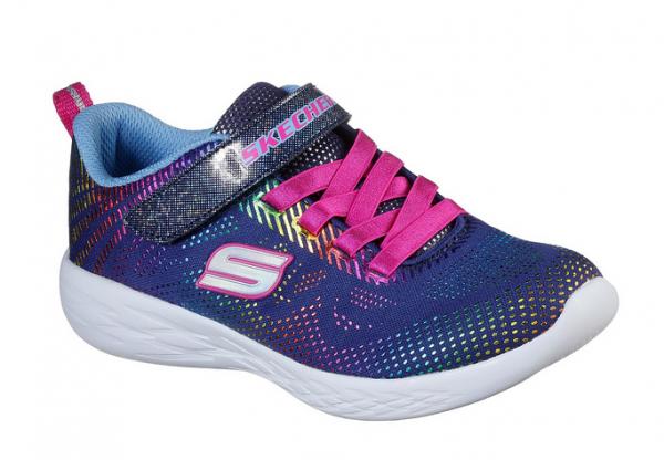 Skechers GoRun 600 - Shimmer Speed Kinder Sneaker 302031L (Blau-NVMT)