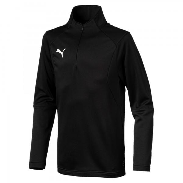 Puma LIGA Training 1/4 Zip Jr Kinder Shirt 655646 (Schwarz 03)