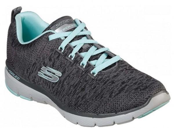 Skechers Flex Appeal 3.0 Damen Sneaker 13062(Grau-CCLB)