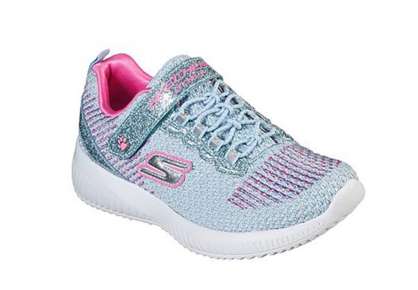 Skechers Lil Bobs Sport Squad - Glitter Madness Kinder Sneaker 85681L (Blau-MTPK)