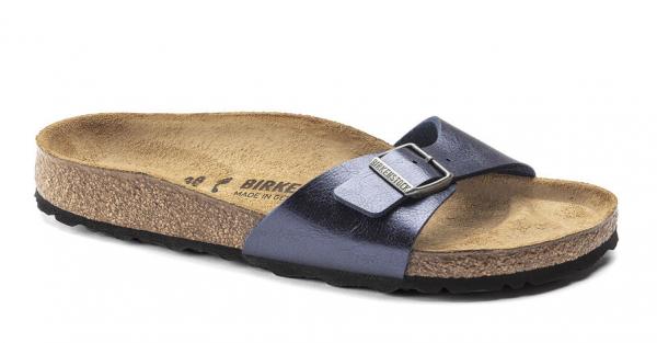 Birkenstock Madrid Birko-Flor Damen Sandale schmal 1018970 (Blau)