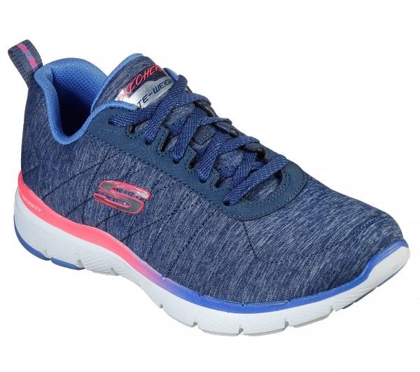 Skechers Flex Appeal 3.0 Fan Craze Damen Sneaker 149008 (Blau-NVMT)