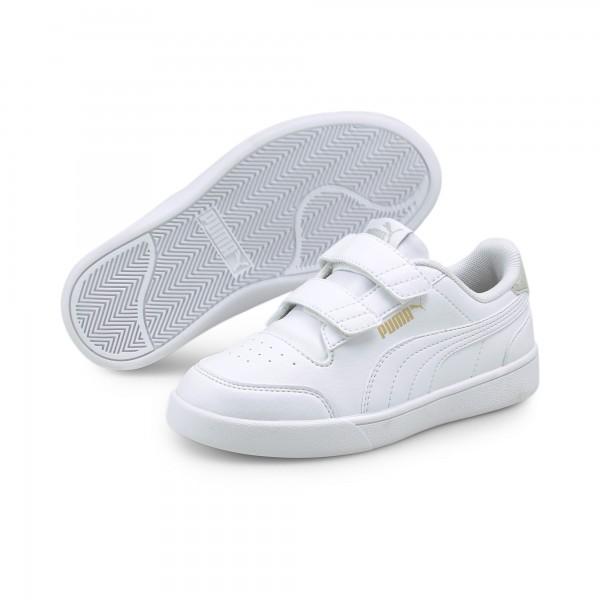 Puma Shuffle V PS Kinder Sneaker 375689 (Weiß 01)