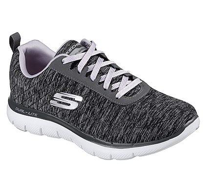 Skechers Flex Appeal 2.0 Damen Sneaker 12753 (Schwarz-BKLV)