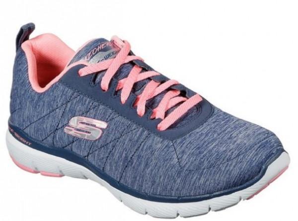 Skechers Flex Appeal 3.0 – Insiders Damen Sneaker 13067 (Blau/Rosa-NVCL)