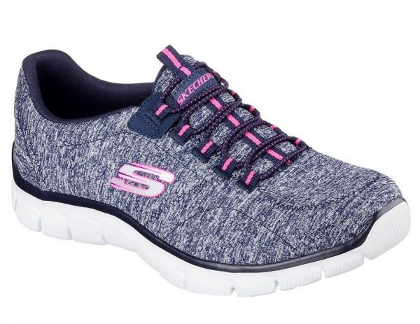 Skechers Relaxed Fit: Empire - Heart to Heart Damen Sneaker 12404 (Blau-NVHP)