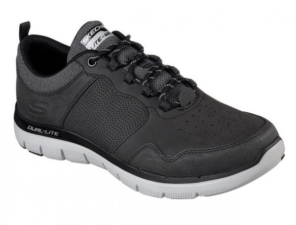 Skechers Equalizer 2.0 Schwarz Grau Herren Sneakers Online