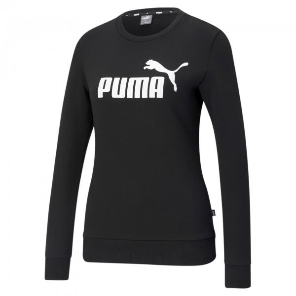 Puma ESS Logo Crew TR Damen Pullover 586786 (Schwarz 01)