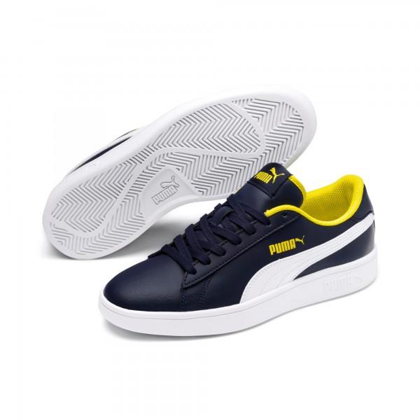 Puma Smash v2 L Jr 365170 (Peacoat-Yellow 09)