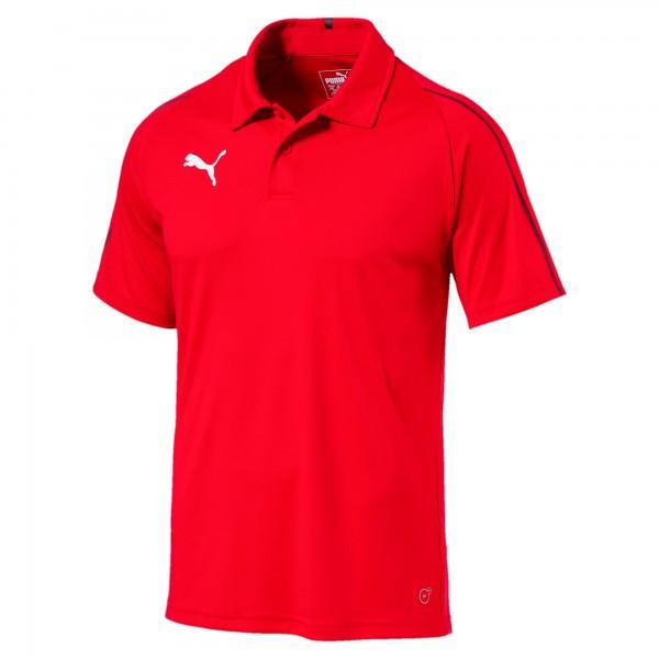 Puma FINAL Sideline Herren Poloshirt 655291 (Rot 01)