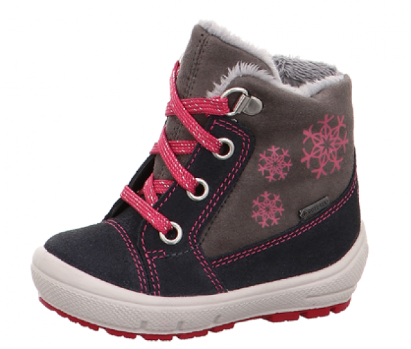 official photos 62695 66d51 Superfit Groovy Kinder Winterstiefel (Grau/Pink)