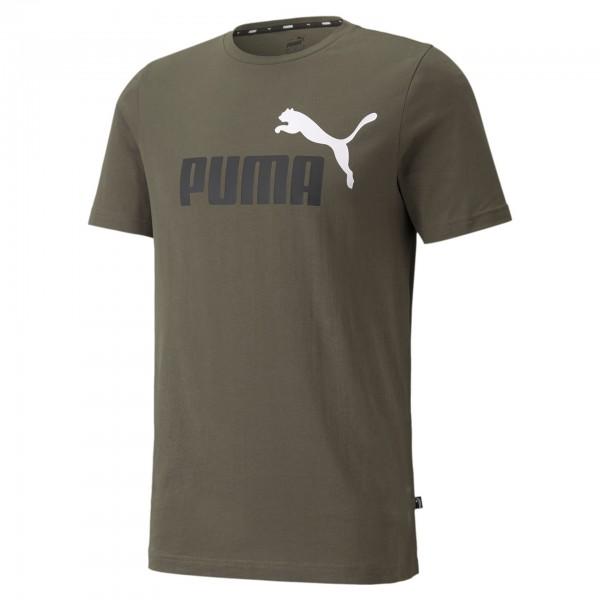 Puma ESS+ 2 Col Logo Tee Herren T-Shirt 586759 (Grün 44)