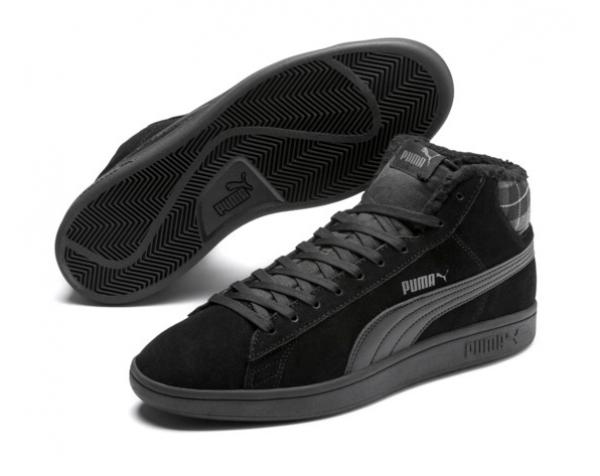 Puma Smash v2 Mid WTR Herren Sneaker 366810 (Schwarz 01)