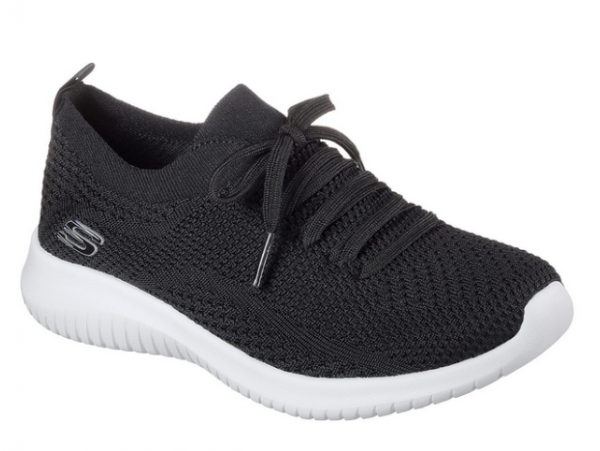 Skechers Ultra Flex - Statements Damen Sneaker 12841 (Schwarz-BKW)