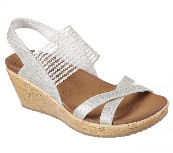 Skechers Beverlee - High Tea Damen Sandale 31723 (Beige-NAT)