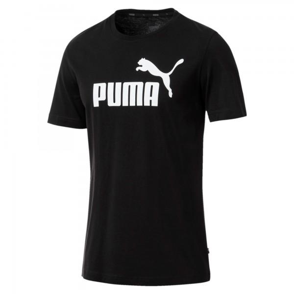 Puma ESS Logo Tee Herren T-Shirt (Schwarz 01)