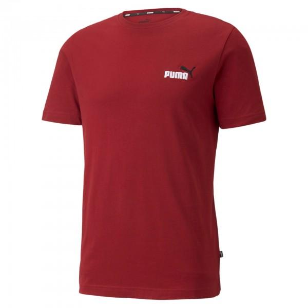 Puma Ess+ Embroidery Logo Tee Herren T-Shirt 587184 (Rot 22)