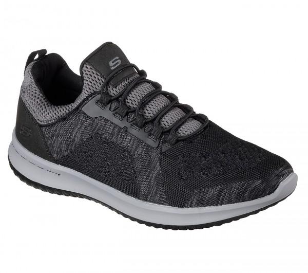 Skechers Delson - Brewton Herren Sneaker 65509 (Schwarz-BKCC)