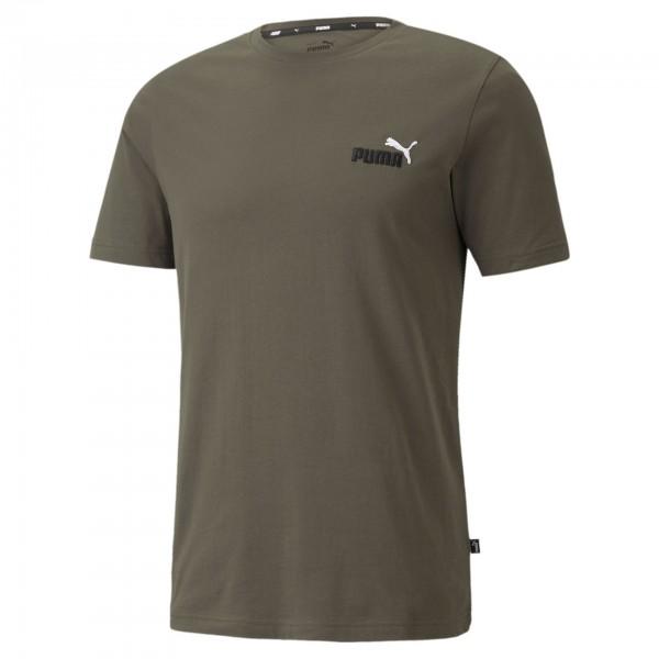 Puma Ess+ Embroidery Logo Tee Herren T-Shirt 587184 (Grün 44)