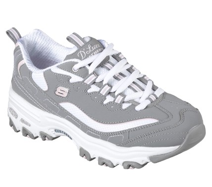 Skechers D'Lites - Biggest Fan 11930 Damen Sneaker (Grau-GYW)