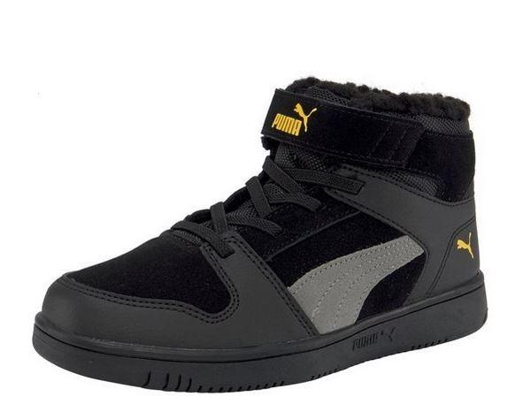 Puma Rebound Layup Fur SD V PS Kinder Sneaker 370498 (Schwarz 06)