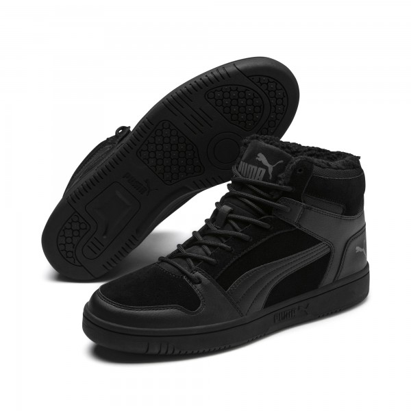 Puma Rebound Lay Up SD Fur Herren Sneaker 369831 (Schwarz 01)