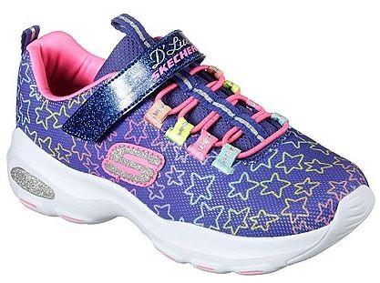 Skechers D'Lite Ultra-Star Sprinter Kinder Sneaker 80666L(Lila/Multi- BLMT)