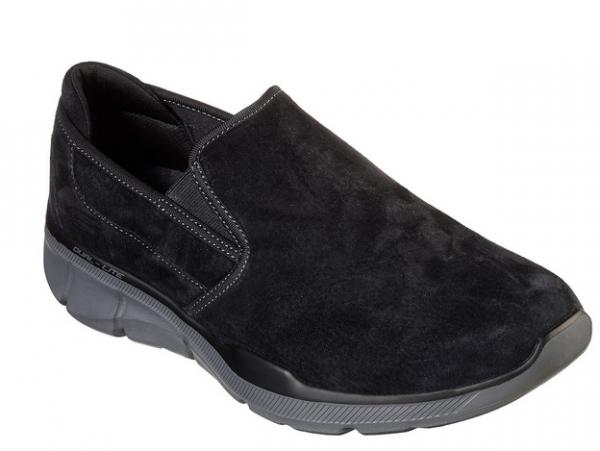 Skechers Relaxed Fit: Equalizer 3.0 - Substic Herren Sneaker (Schwarz-BKCC)