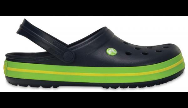 Crocs Crocband Clogs (Navy-Voltgreen-Lemon)