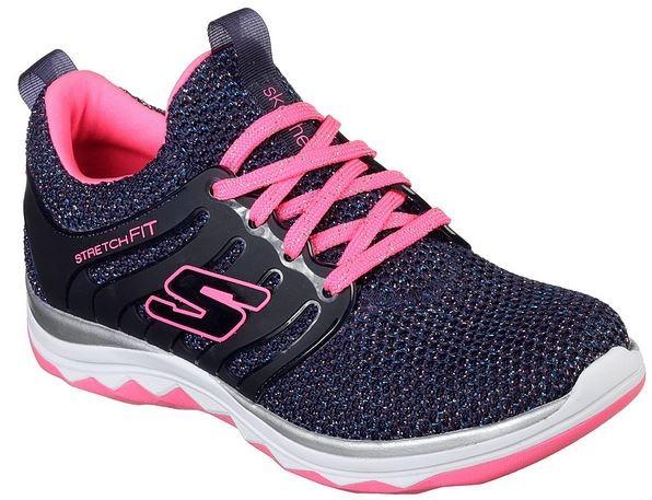 Skechers Diamond Runner Sparkle Sprints Kinderschuhe 81561L (BlauHot Pink NVHP)