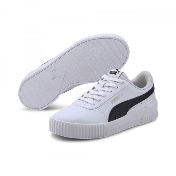 Puma Carina Snake Jr Kinder Sneaker 373526 (Weiß 01)