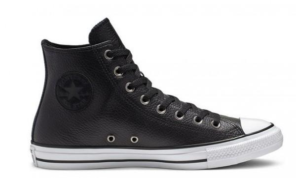 Converse Chucks Taylor All Star HI Leder Sneaker 165191C (Schwarz)